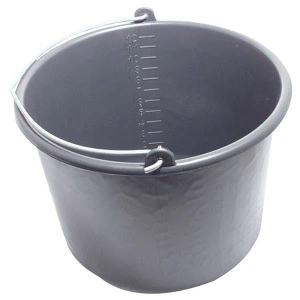 60586f0e4458 habarcsos vödör; 12 liter,fekete műanyag - minőségi szerszámok a ...